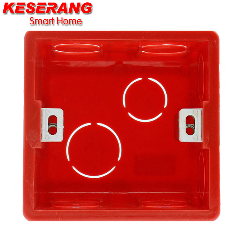 High Quality 86MM Mounting Box Cassette Switch Socket Junction Box Hidden Concealed Internal Mounting Box Red Box for UK Switch