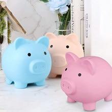 Bonito pequeno piggy caixas de dinheiro crianças brinquedos banco porco moeda caixas de armazenamento decoração para casa caixa de poupança de dinheiro crianças quarto ornamentos