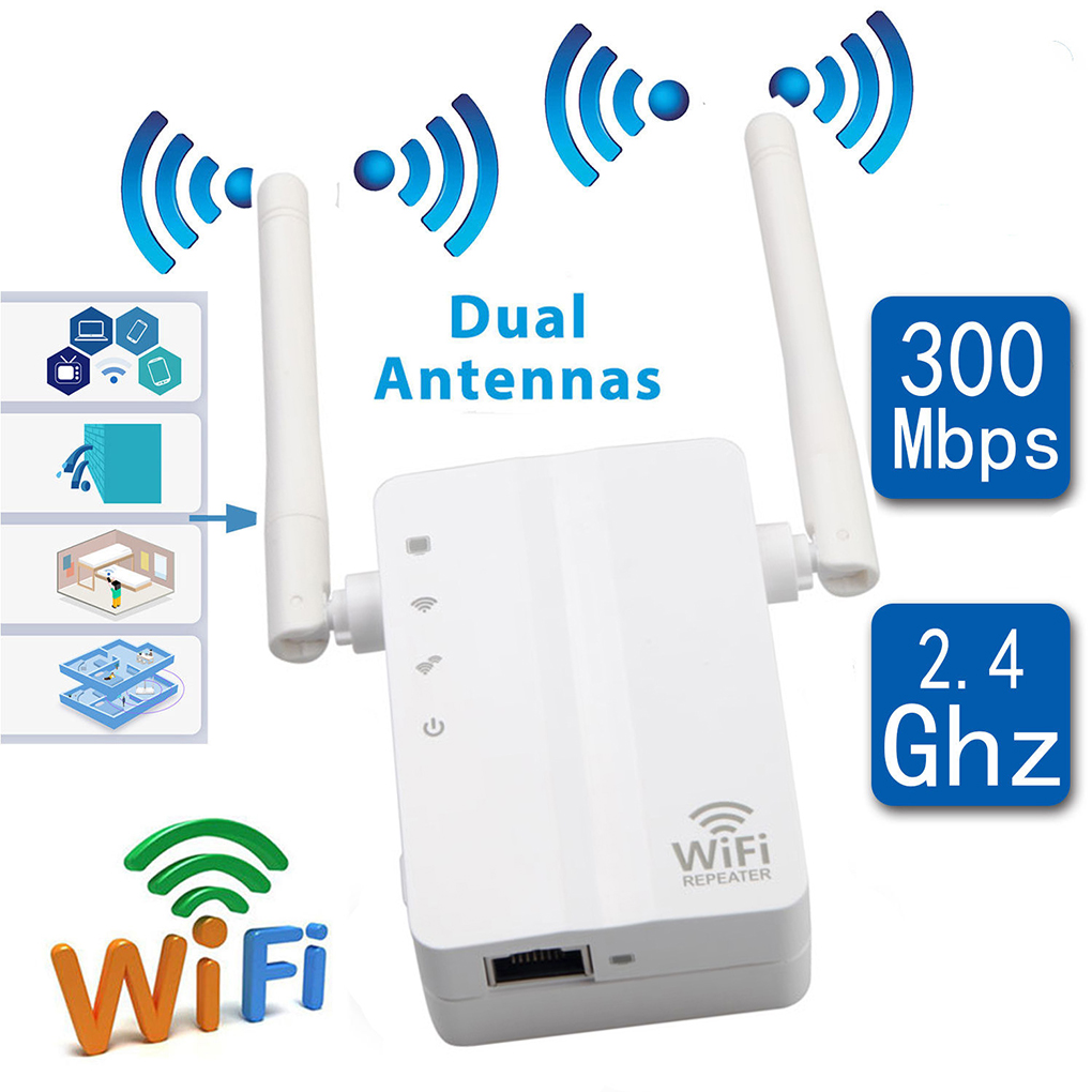 300Mbps AP Wireless Wifi Repeater Home Network Booster 2.4G Wireless Enhancer Wifi Signal Range Extender
