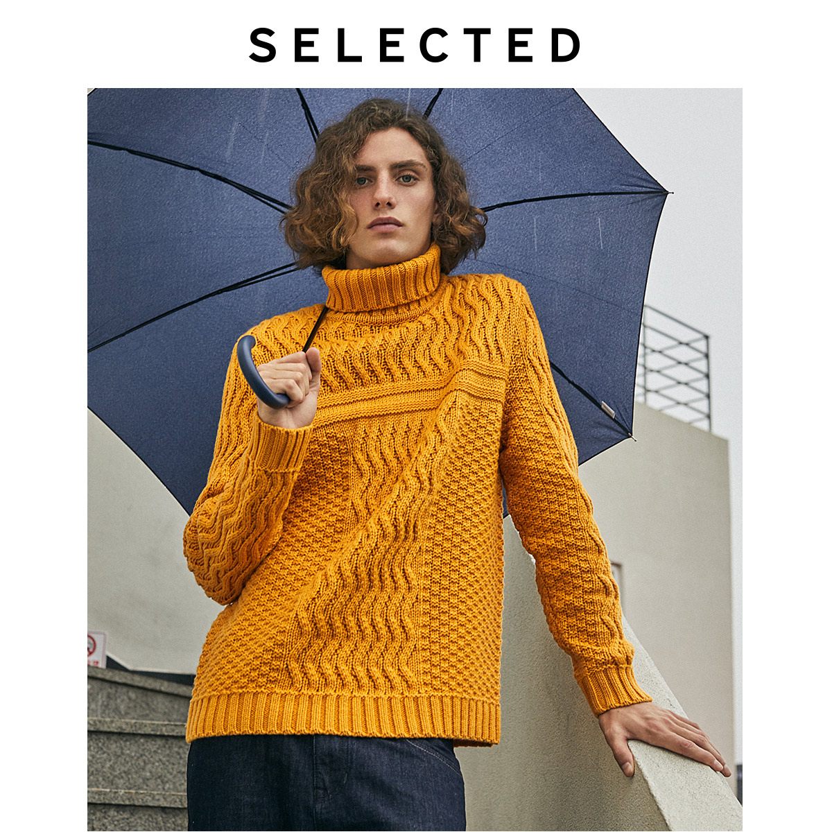 Image 3 - SELECTED Men's Autumn & Winter High necked Woolen Knitted Sweater L419424551-in Pullovers from Men's Clothing