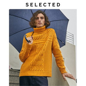 Image 3 - SELECTED Mens Winter High necked Pullover New Woolen Knitted Turtleneck Sweater Clothes L