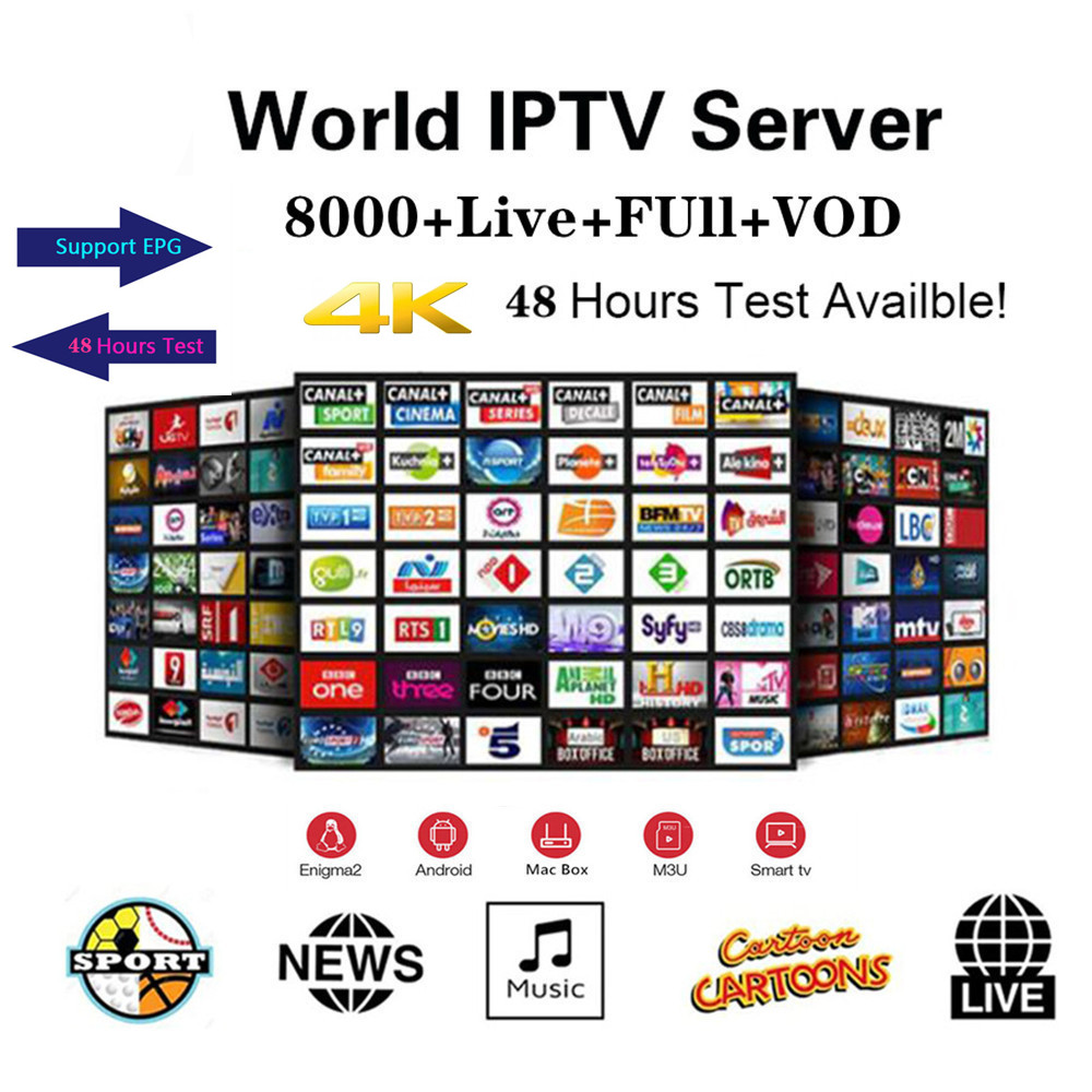 Premium HD World IPTV Spain M3U XXX Italy Dutch France Portugal Germany UK For Android TV Smart IPTV Subscription Xtream Codes