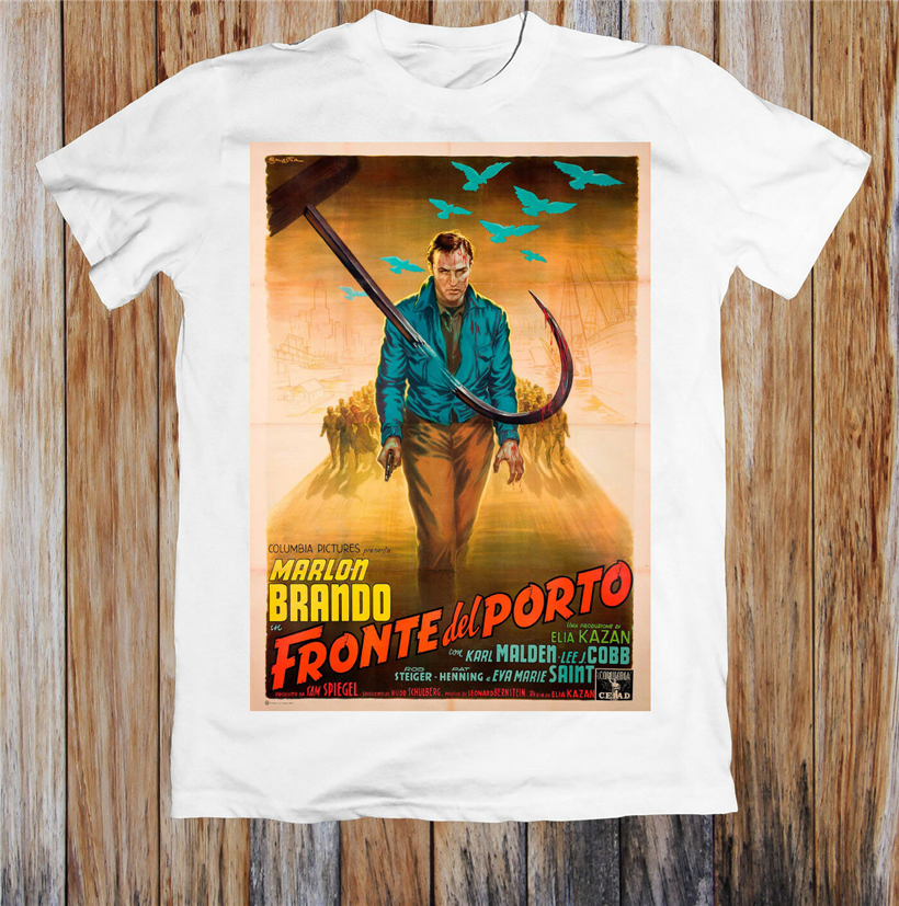 On The Waterfront 1950'S Movie Poster Retro Unisex T-Shirt Adults Casual Tee Shirt image