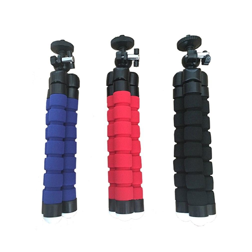 Nova esponja flexível polvo mini tripé flexível tripé de telefone para iphone mini câmera tripé suporte do telefone clipe 5