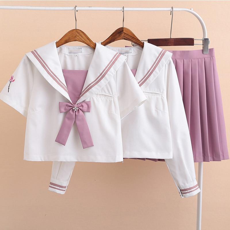 Coréen école uniforme marine marin Anime jupes japonais école uniforme mode Kawaii fille rose Cosplay vêtements