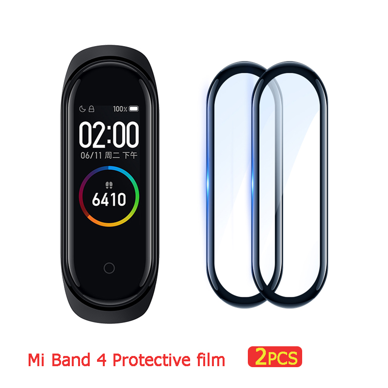 2pcs Protective Film For Mi Band 4 Strap Film Explosion-proof/scratch-resistant Protector Mi Band 4 Glass (Non-Tempered Glass)