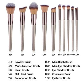 La Milee Champagne Makeup Brushes Set Foundation  1