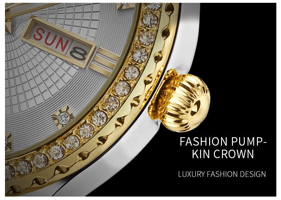 marca de luxo moda diamante aço inoxidável