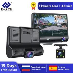 E-ACE Car Dvr 3 Camera Lens 4.0 Inch Video Recorder Dash Cam Auto Registrator Dual Lens Support Rear View Camera DVRS Camcorder(Hong Kong,China)