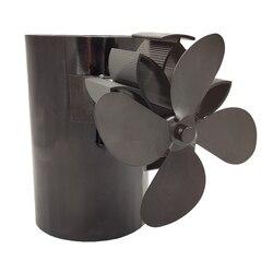 WSFS ventilador de estufa de calor caliente mejora diseñado funcionamiento silencioso 4 cuchillas con atracción magnética para la chimenea
