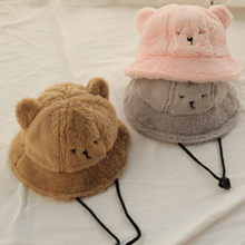 Cute Bear Ears Fisherman Hat Men And Women Autumn Winter Street Hipster Travel Hat Bucket Hat And Caps Women New Arrival(China)