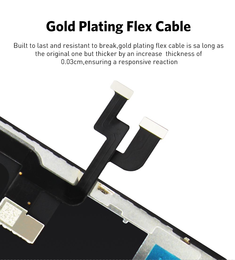 H847eec7f50624cd0bc71c8de39e60c04T AAA+++ For iPhone X OLED With 3D Touch Digitizer Assembly No Dead Pixel LCD Screen Replacement Display For iPhoneX LCD with Gift