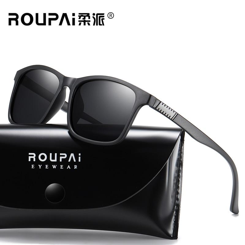 ROUPAI Male Polarized sunglasses Outdoor Cycling eyewear UV400 anti ultraviolet rays goggles Men driving Hiking fashion glasses|Cycling Eyewear| |  - title=