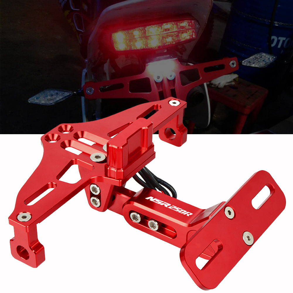 Motorcycle Adjustable Angle License Number Plate Frame Holder Bracket For Honda NSR250R 1988-1994 1989 NSR250 <font><b>NSR</b></font> <font><b>250</b></font> R 250R image