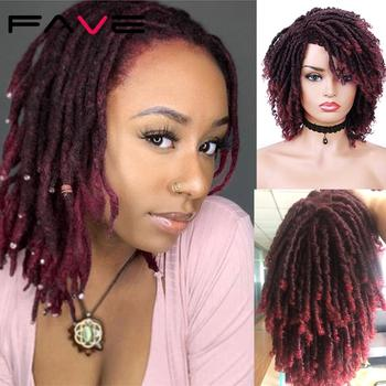 FAVE Short Dreadlock Ombre Bug 1b99J Braiding Crochet Twist Hair 6 Inch Synthetic Wig For Black Women/Man High Temperature Fiber - discount item  52% OFF Synthetic Hair
