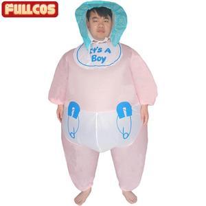Image 1 - Надувной детский костюм для женщин и мужчин, надувной наряд для взрослых, вечевечерние НКИ, ночи, Хэллоуина, карнавала, косплея, надувной наряд для младенцев