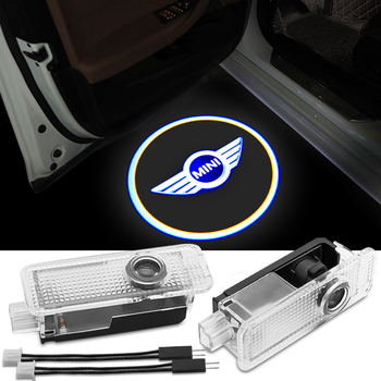 2pcs Car Door Welcome Light LED Mood Projector Auto Logo For BMW Mini Cooper One S JCW R55 R56 R60 F55 F56 F60 Countryman car seat covers for bmw mini cooper r55 r60 wholesale waterproof leather auto seat protector accessories
