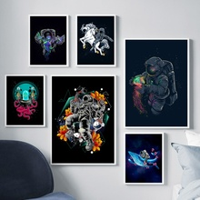 Astronaut Spaceman Space Travel Wall Art Canvas Painting Nordic Posters And Prints Pictures For Living Room Print Decor