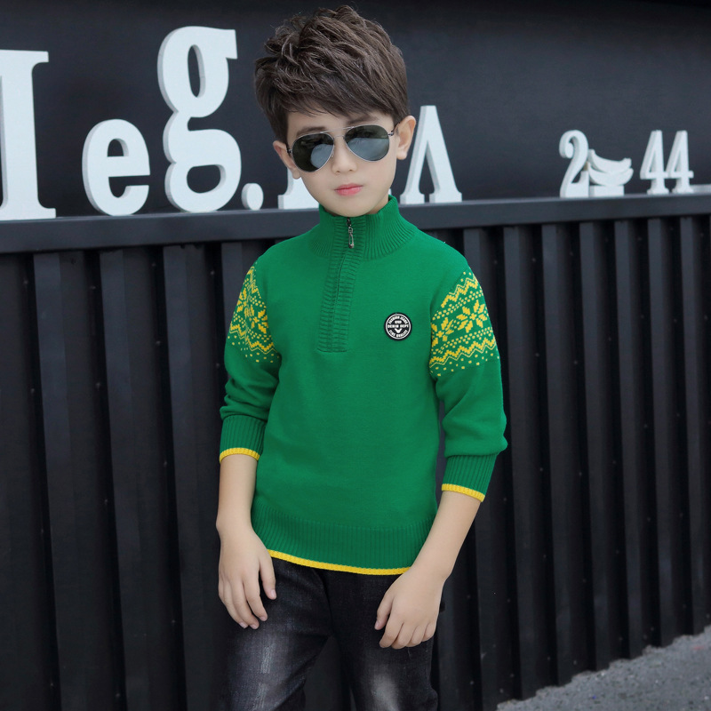 Boy's clothing Winter Cotton products clothing Boy's Sweater  pullover Sweater  Kids clothes children's Sweater winter Keep warm 2