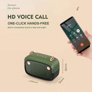 Image 5 - Retro Bluetooth Speaker Portable Wireless BT5.0 Speaker Indoor/Outdoor Loundspeaker with Powerful Bass Support TF Card/U Disk/FM