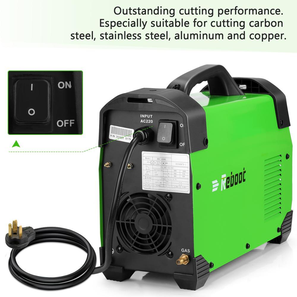 Tools : Reboot Plasma Cutter 45Amps AC220V Voltage Air Plasma Cutting Machine Clean Cutting Metal Cutter Inverter Cutting Machine