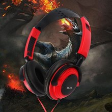 3.5mm Wired Gaming Headset Over-Ear Sports Music Earphones with Microphone In-line Control for