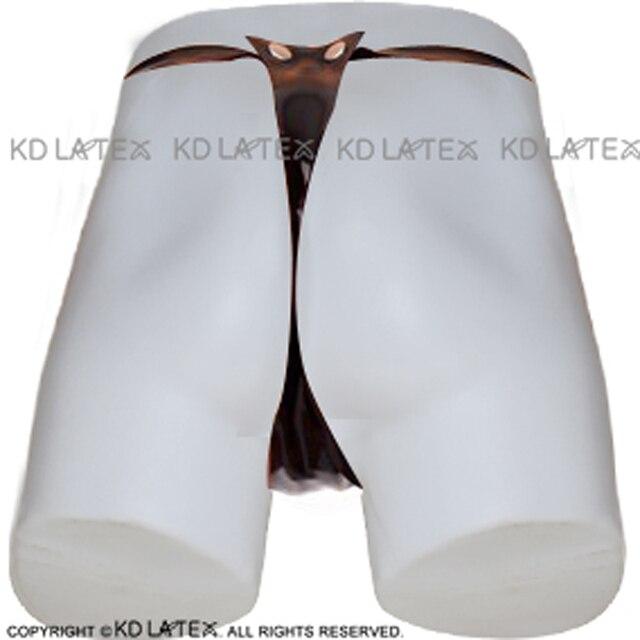 Фото черное сексуальное латексное т образные плавательные с кнопками