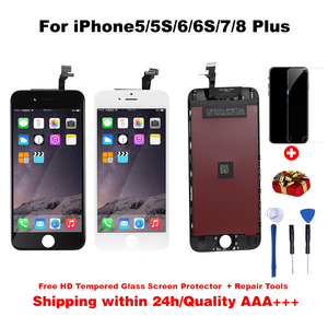 Quality AAA+++ LCD Display For iphone 6s lcd digitizer Touch Screen For iPhone6 screen 5S 6SPlus 7 7Plus No Dead Pixel +gifts