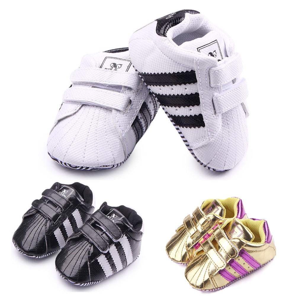 Newborn Girl Boy Baby Shoes Striated Cute Anti-slip Sneaker Soft Sole Infant First Walkers Shoes Moccasins Toddler Shoes
