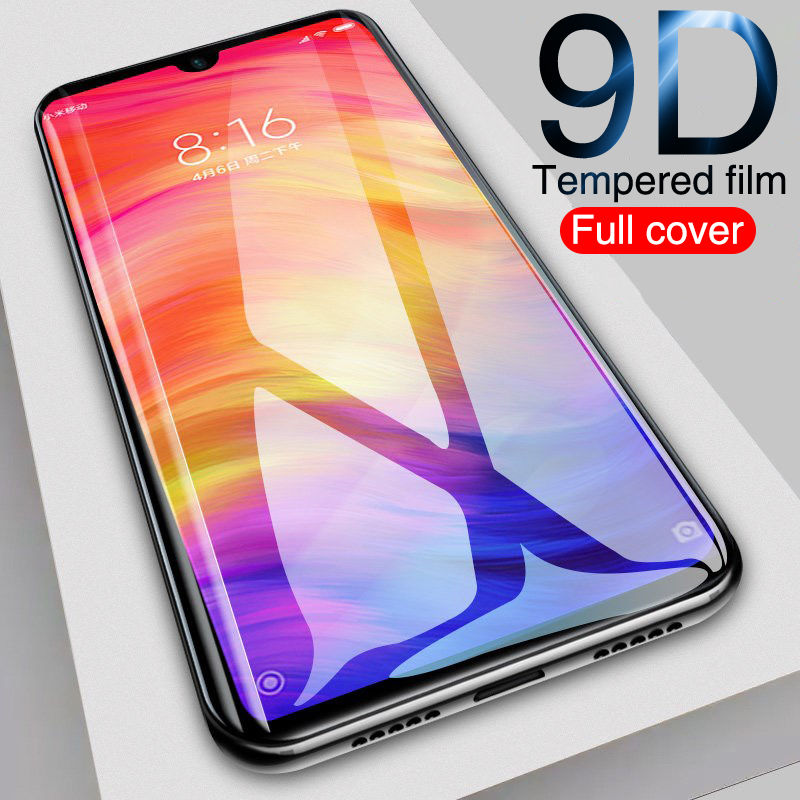 9D Tempered Glass For Xiaomi Mi 9 SE A3 Lite CC9 CC9E Mi Play Screen Protector On Redmi 7 8A Note 7 8 Pro Glass Protective Film
