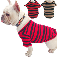 Black Strips Small Dog Sweaters Knitted Pet Cat Sweater For French Bulldog Large Dog Hoodie Coat Sweatshirt Autumn Winter S-4XL
