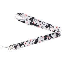 Cat animal kawaii Neck Strap Lanyard Mobile Phone Key Card Identification Straps Badges Holder DIY Hanging Lariat Laces E0713