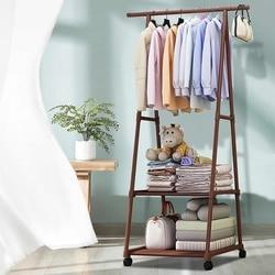Removable Metal Coat Rack Floor Shelf Stand with Wheels Multifunction Storage Rack Organizer Garment Clothes Holder Shelves