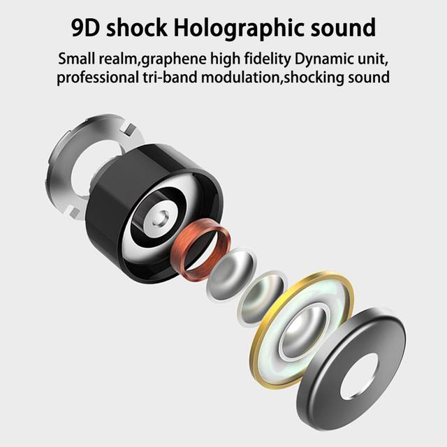 WS-L21 Bluetooth 5.0 Headset Wireless Earphones Earbuds In-Ear Waterproof Stereo Headphone Light ABS Silicone Sports Earbuds.