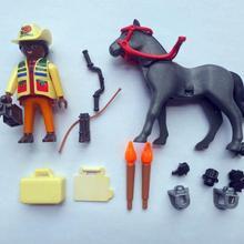 2PCS Playmobil Reporter Horse loose Figures toys model