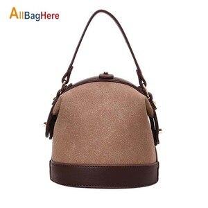 Brand Women Mini Bucket Bag New 2020 Female Messenger Bags Vintage Quality Scrub PU Leather Fashion Shoulder Bag Ladies Handbags City Jogging Bags    -