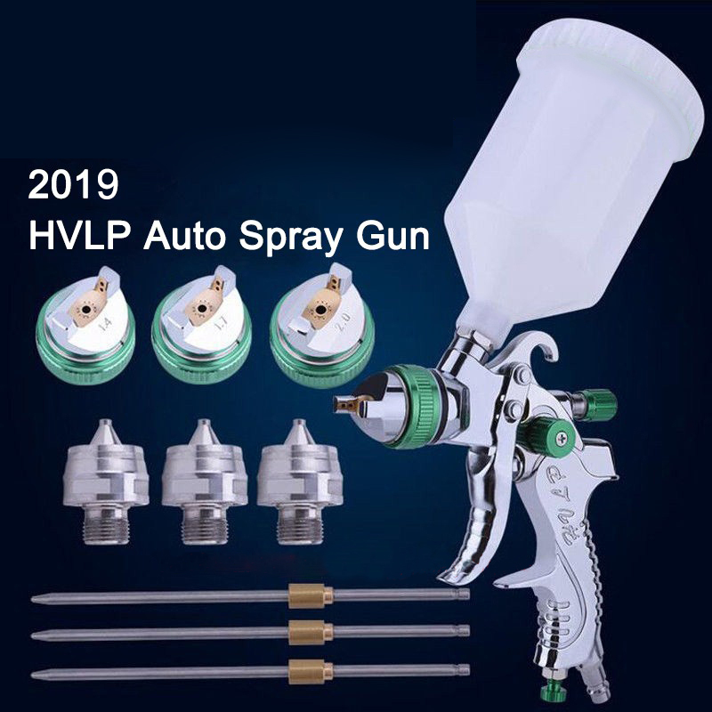 HVLP Spray Gun 1.4mm 1.7mm 2.0mm Steel Nozzle Set  Cars Painting Furnitures DIY Painting Kit Car Auto Repair Tool