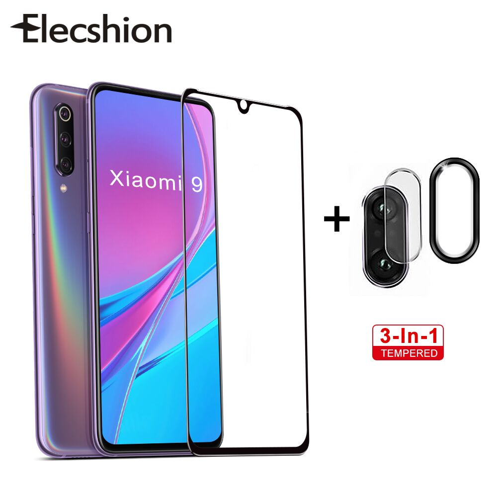 3 In 1 Protective Screen Tempered Glass For XiaoMi Redmi Note 7 Pro For Redmi Note 7 Phone Screen Protector Camera Len Film Ring