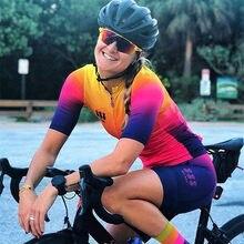 Tres Pinas-Conjunto de Ropa de Ciclismo profesional para mujer, conjunto de Ropa de secado rápido para bicicleta de montaña, pantalones cortos de GEL, 2020