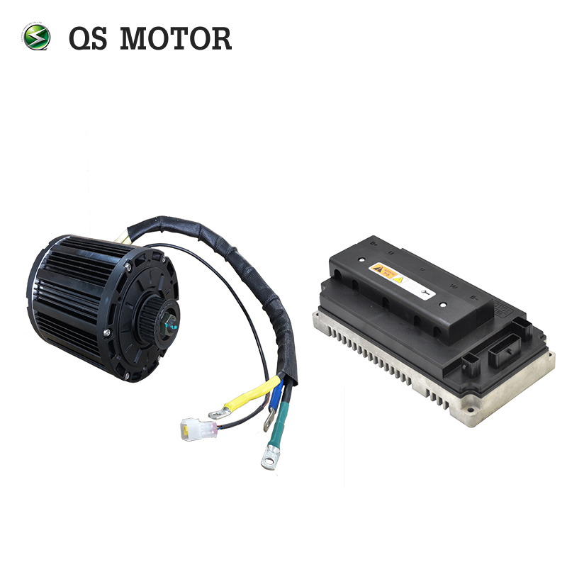<font><b>QS</b></font> <font><b>Motor</b></font> <font><b>4000W</b></font> 138 90H mid drive <font><b>motor</b></font> with EM72150SP sin wave controller kits for Motorcycle 72V image