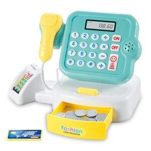 Image 4 - 어린이 척 놀이 슈퍼마켓 금전 등록기는 무게를 스캔 할 수 있습니다 소년과 소녀 시뮬레이션 스캐너 계산기 어린이를위한 플라스틱 장난감