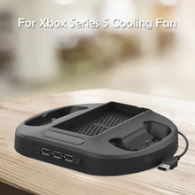 Game Host Cooling Stand Cooler for Xbox Series S Game Machine Cooling Stand Cooler Game Accessories 3 USB Hub