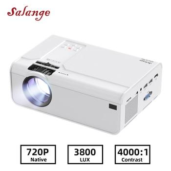 Salange-Proyector Led P60 para cine en casa Dispositivo portátil HD 720P, resolución de 1280x720P, Proyector de vídeo 3D