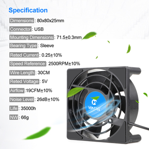 Image 2 - VONTAR C1 Cooling Fan for Android TV Box Set Top Box Wireless Silent Quiet Cooler DC 5V USB Power 80mm Radiator Mini Fan