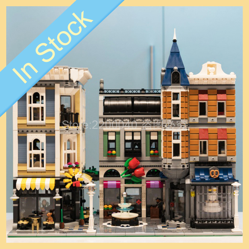 15019 Creator City Street View Assembly Square Modular 4122pcs Building Blocks Bricks Kids Toys For Gift Compatible 10255