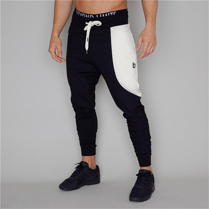 Men Sweatpants Fashion  Long Pant Jogger Cotton Trouser Casual Tracksuit Outdoor Slim Fit Elastic Waist String Brand Sweatpant