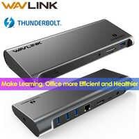 [Intel Certificato] Thunderbolt 3 USB C 4K Display Docking Station Gigabit Ethernet Con Erogazione di Potenza di Lavoro On-Line studio a Casa