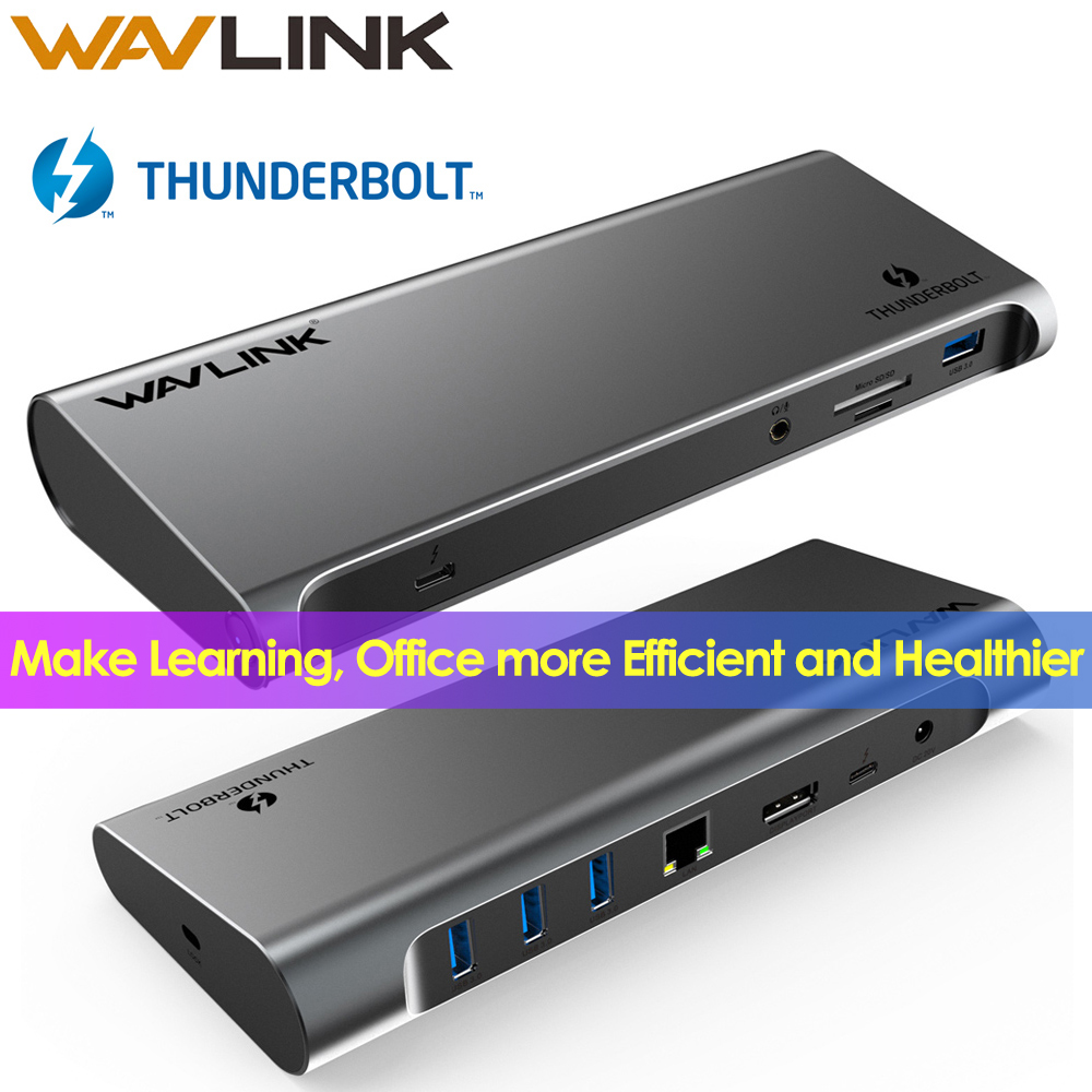 [Intel Certified] Thunderbolt 3 USB C 4K Display Docking Station Gigabit Ethernet With Power Delivery Work Online Study At Home