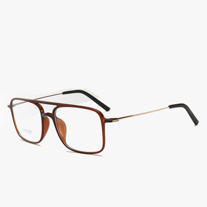 Image 5 - Bclear 超軽量正方形 ultem 眼鏡ダブルビームメガネフレーム男性と女性のモデル潮ビッグフェイス快適な