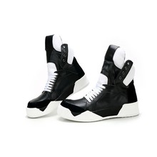 Men High Top Shoes Ankle Luxury Trainers Genuine Leather Sne